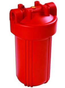 897 10 дюймов Корпус фильтра Биг Блю для горячей воды с входом 1 дюймов и сбросом давления