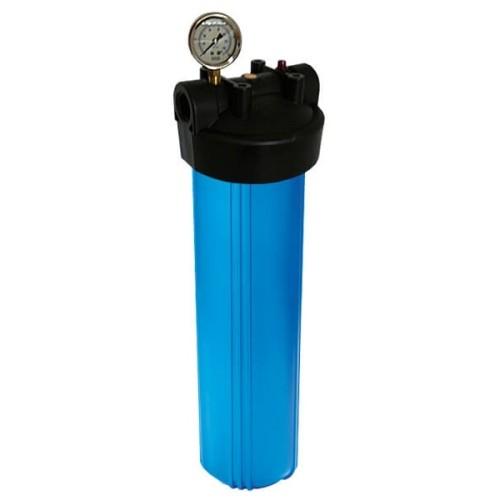 B908 20 дюймов Корпус фильтра Биг Блю с манометром с входом 1 дюймов и сбросом давления