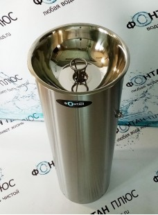 Фонтанчик питьевой Дождик-1 ⌀ 300мм с СанПиН кольцом и кнопкой на корпусе