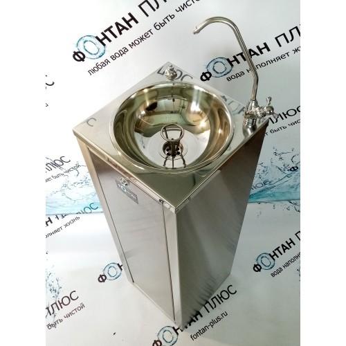 Фонтанчик питьевой Оазис-6 с поворотным краном, кнопкой и СанПиН кольцом