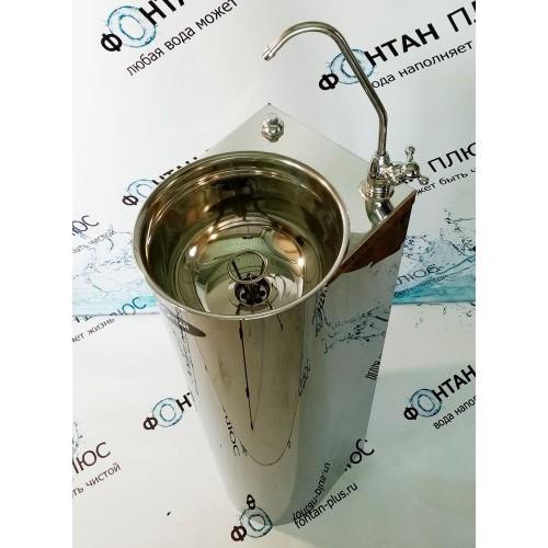 Фонтанчик питьевой Родничок-6 с поворотным краном, кнопкой и СанПиН кольцом