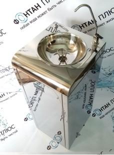 Фонтанчик питьевой Школьник-5 с клавишным краном, кнопкой и СанПиН кольцом