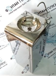 Фонтанчик питьевой Школьник-6 с поворотным краном, кнопкой и СанПиН кольцом