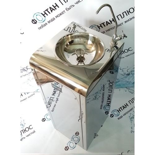 Фонтанчик питьевой Школьник-6 с охлаждением, поворотным краном, кнопкой и СанПиН кольцом