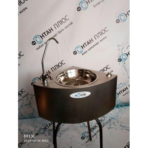 Фонтанчик питьевой водяной-4 с поворотным краном, кнопкой и СанПиН кольцом