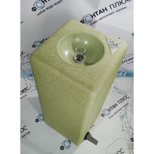 Фонтанчик питьевой из искусственного камня с охлаждением и педалью