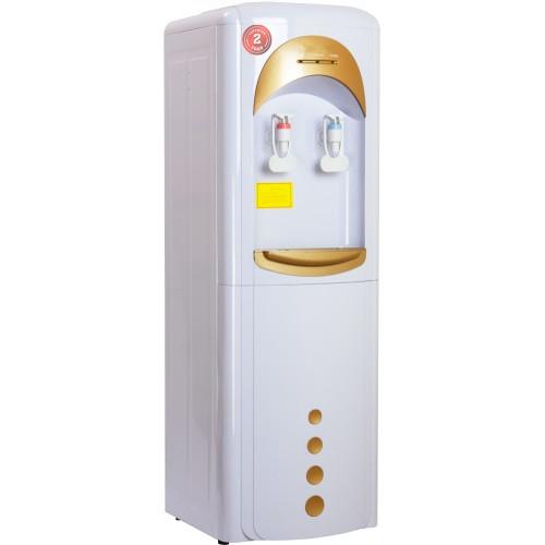 Пурифайер напольный П-7 бело/золотой с нагревом и компрессорным охлаждением
